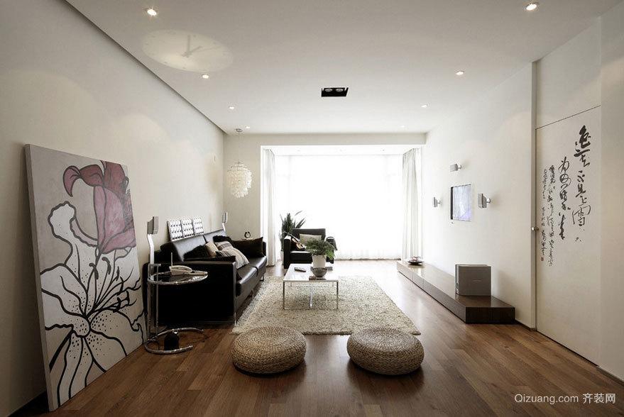 100平米新中式三室两厅两卫装修效果图