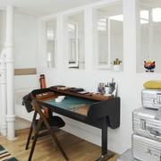 简约风之复式楼黑色单人餐桌设计