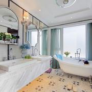 小户型白色浴室