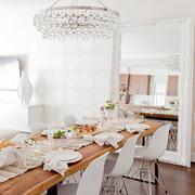 简约型白色餐厅装饰