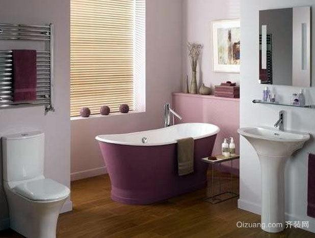 140平米粉色系婚房专配卫生间装修效果图