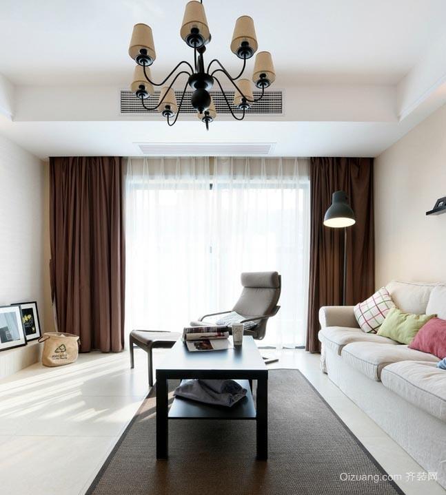 简约干净的138平方三室两厅两卫装修效果图