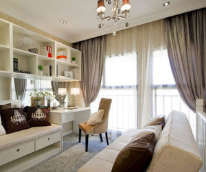 两室一厅欧式简约风格小书房装修效果图