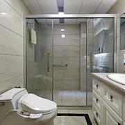 公寓卫生间玻璃门图