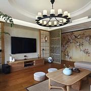 公寓客厅简约电视背景墙设计