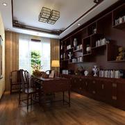 书房中式书架设计