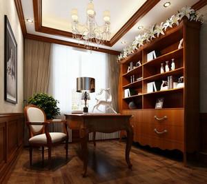 三室一厅新古典风格小书房装修效果图