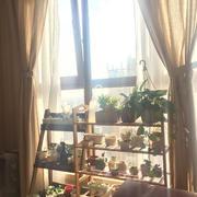 别墅优雅型卧室飘窗花架