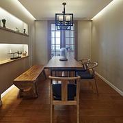 公寓餐厅木质桌椅设计