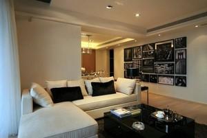 大户型别墅家庭现代黑白装饰画装修效果图