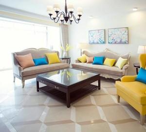 三室两厅舒适客厅沙发展示