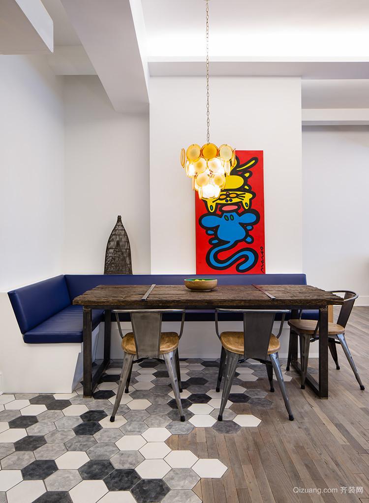 年轻风潮:60平单身公寓创意家装吧台装修图