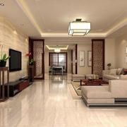 中式客厅灯光设计装修效果图