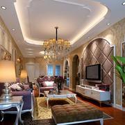 欧式客厅软包背景墙设计