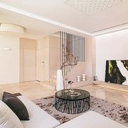 公寓客厅温暖地毯图