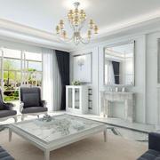 欧式白色纯白客厅装修
