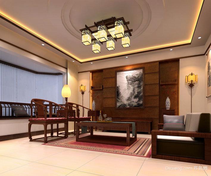 精致大气:大户型中式客厅装修效果图