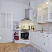 公寓转角厨房效果图