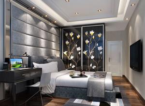 两室一厅现代简约风格卧室装修设计
