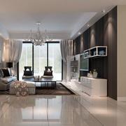 现代欧式客厅地板砖效果图