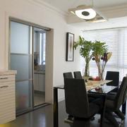 公寓厨房推拉门设计