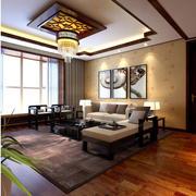 现代客厅地板砖装修效果图