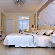 纯情色调卧室背景墙装修效果图