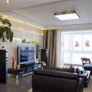 公寓客厅电视背景墙展示