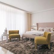 公寓卧室温暖大床展示
