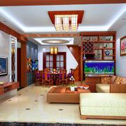 唯美中式客厅背景墙效果图