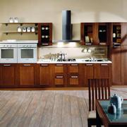 欧式整体式厨房橱柜设计
