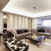 素色淡雅的欧式客厅装修效果图