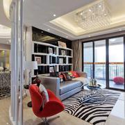 精致装修的现代客厅地板砖