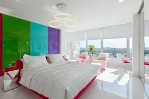 炫丽彩色糖果70平米单身公寓装修效果图