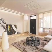 公寓客厅简约吊顶设计