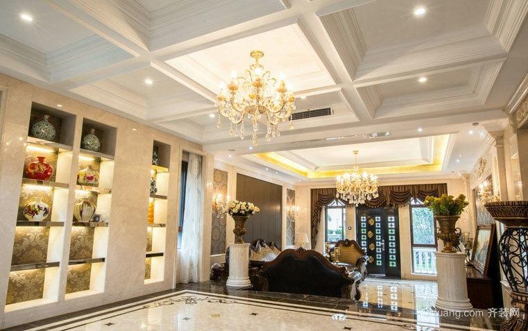 140平米大型欧式风格客厅吊顶装修效果图