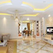 唯美色调欧式客厅装修效果图