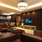 中式客厅色调搭配设计