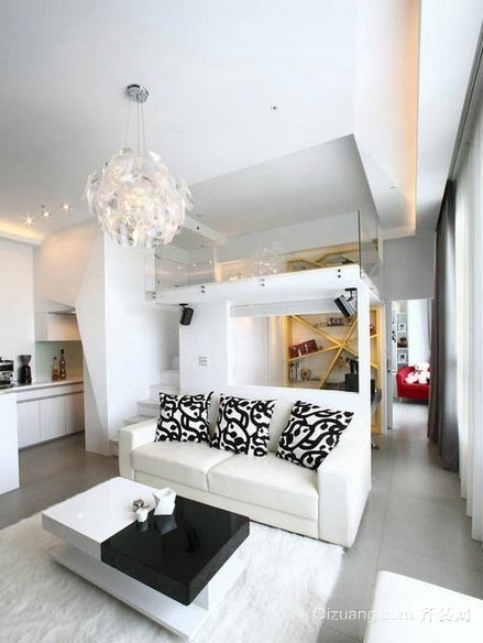 白色宫殿:简洁宽敞100平新房装修设计效果图