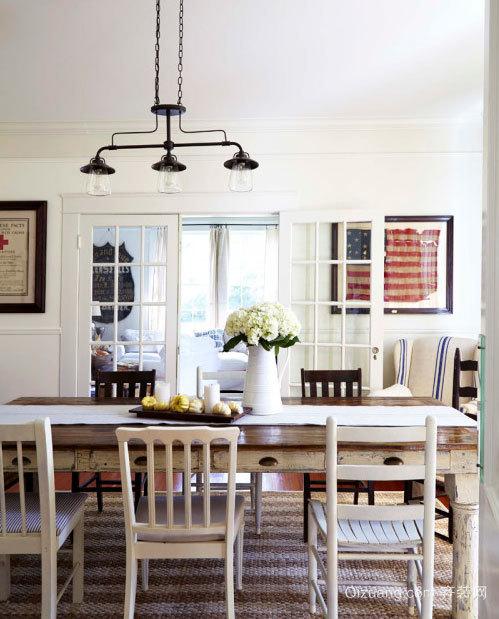 独特魅力:小型美式风格两室一厅样板房装修效果图