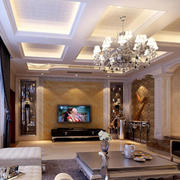 唯美的客厅吊顶设计