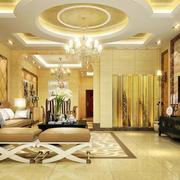金黄色调别墅设计