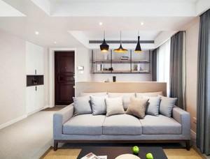 公寓客厅灰色家居大沙发