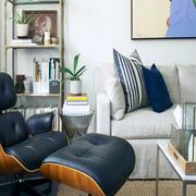 小户型客厅皮制沙发效果图