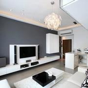 新房灰白电视组合柜设计