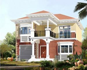 经典现代农村二层房屋设计效果图