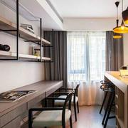 公寓开放式书房书桌实景