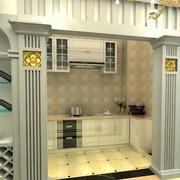 华丽的餐厅酒柜设计