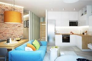 小空间大个性:60平米一居室单身公寓装修效果图