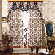 温馨色飘窗窗帘设计